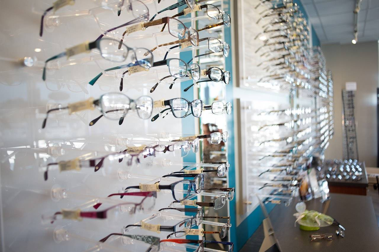 closeup-of-glasses-display-wall