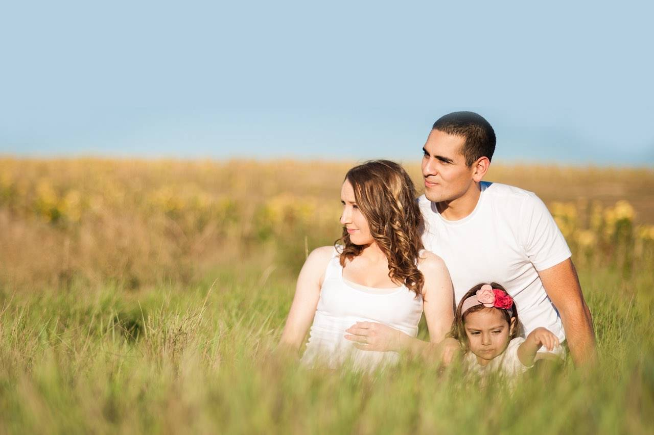 family_grass_blue_sky