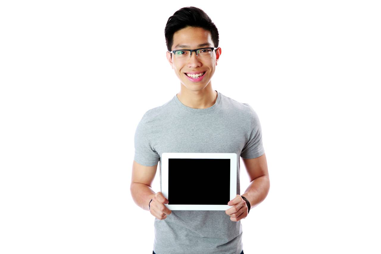 grey shirt ipad - plainview eye care