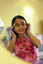 young girl wearing stylish glasses