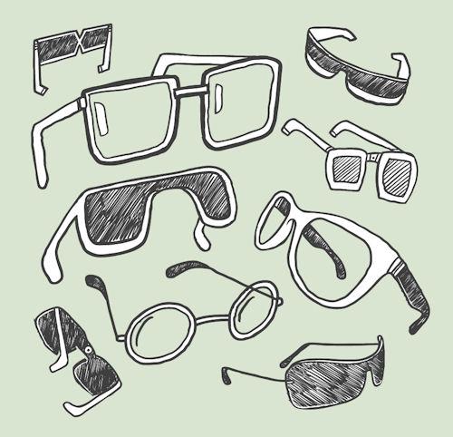 glasses 20line 20drawings