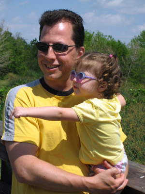 father and daughter wearing sunglasses in Arlington