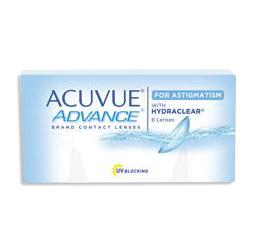 Acuvue Advance for Astigmatism Contacs from your Burlington optometrist