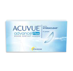 Acuvue advance plus with hydraclear contact lenses from a Washington DC eye doctor