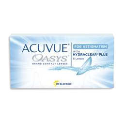 Acuvue Oasys for Astigmatism contacts at Thompson Rivers in Kamloops, BC