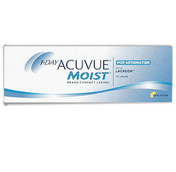 Acuvue Moist for Astigmatism contacts at Thompson Rivers in Kamloops, BC
