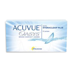 Acuvue Oasys Hydraclear Plus contact lenses from a washington, dc eye doctor