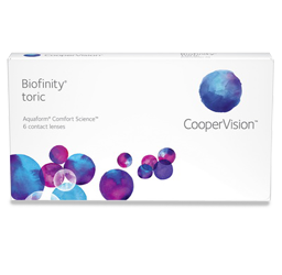 Optometrist, box of Biofinity Toric contact lenses in O'Fallon, Wentzville, Hillsboro, and Cottleville, MO