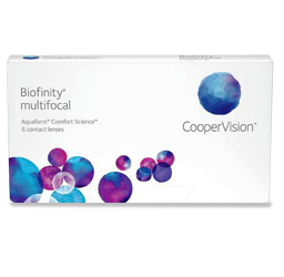 Eye doctor, box Biofinity Multifocal contact lenses in O'Fallon, Wentzville, Hillsboro, and Cottleville, MO
