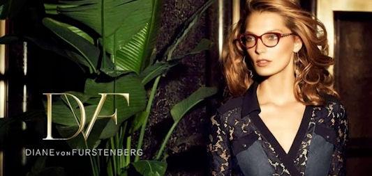 DVF eyewear model