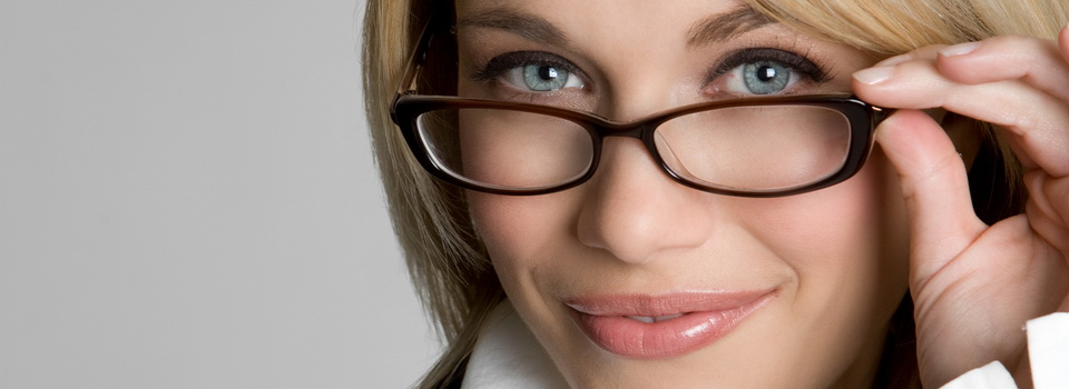 Woman wearing eyeglasses in St. Louis And St. Charles, MO