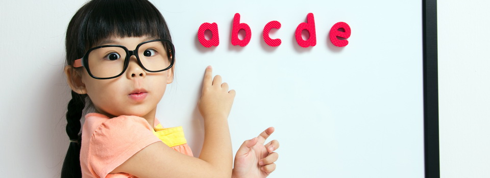 girl with alphabet