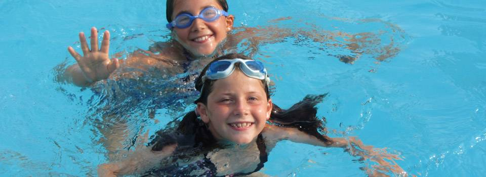 kids swimming in contact lenses and goggles