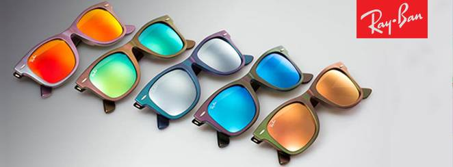Rayban sunglasses in different colors