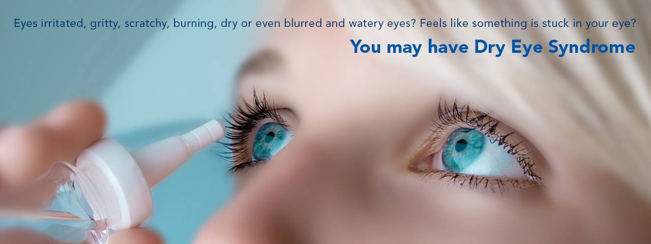Woman suffering from Dry Eye